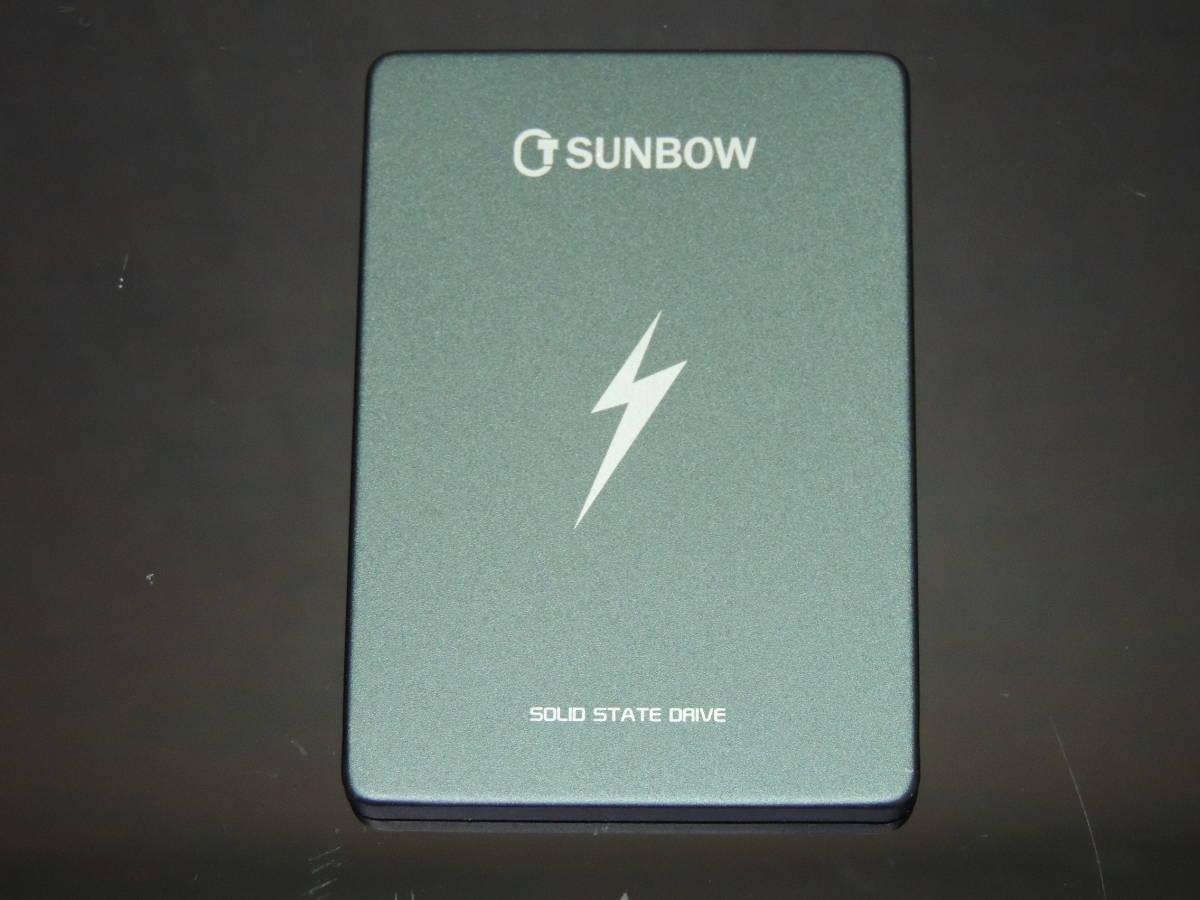 【検品済み/使用127時間】SUNBOW X3 SSD 120GB 管理:k-44_画像1