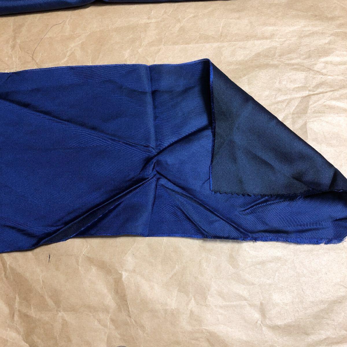 サテン 生地 紺色 サテン よごれ無し 有りの混合 ハンドメイド パッチワーク はぎれ 小物 インテリア等にも