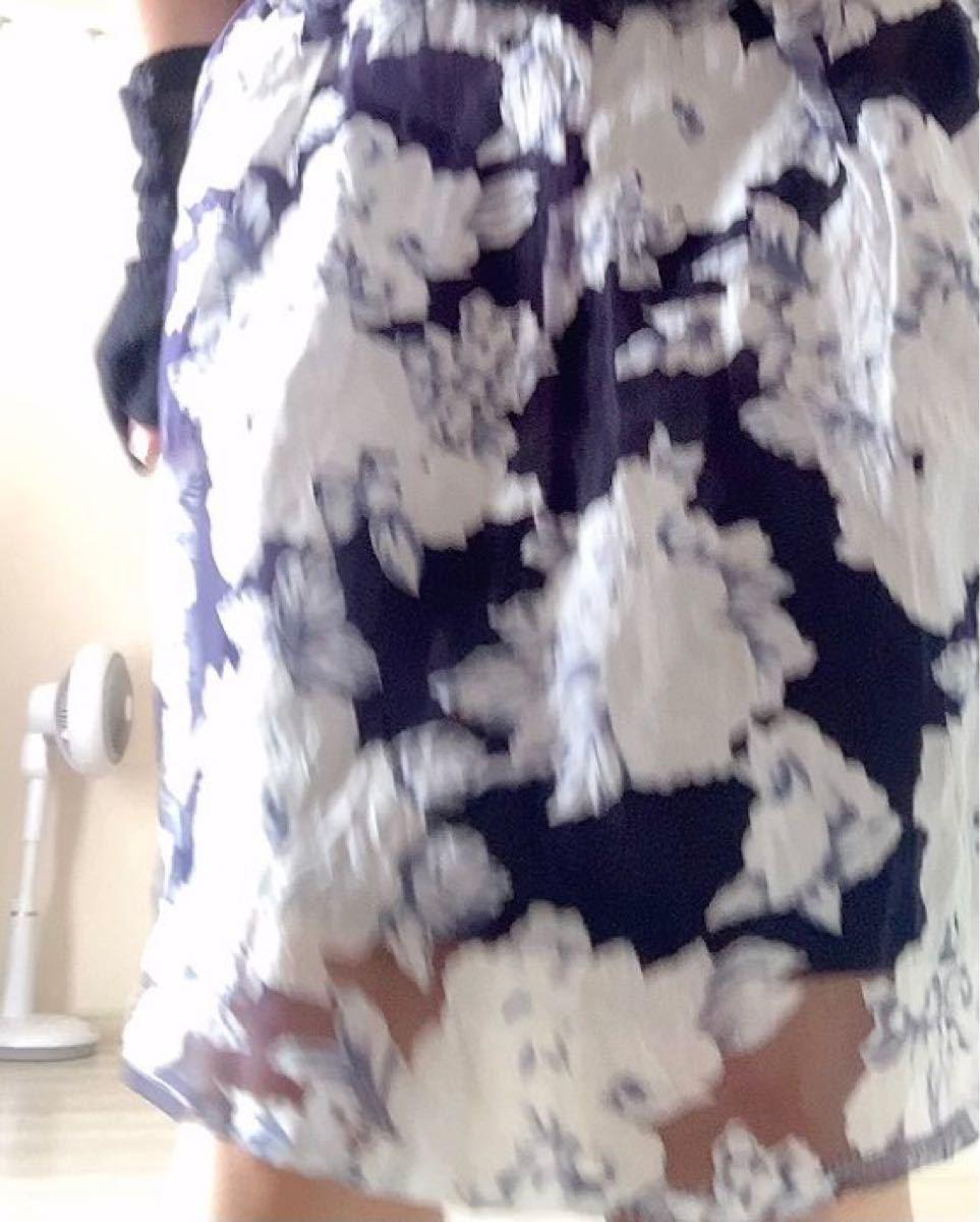 フレアースカート 花柄