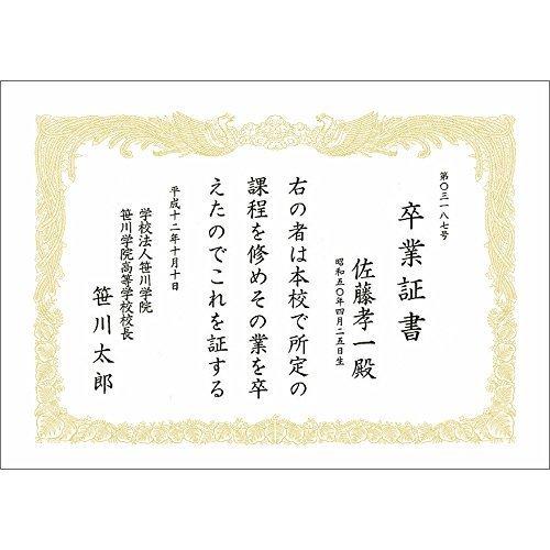 新品白色 A4 タカ印 賞状用紙 OA対応 10-1160 A4 縦書き 100枚 白9BK3_画像3