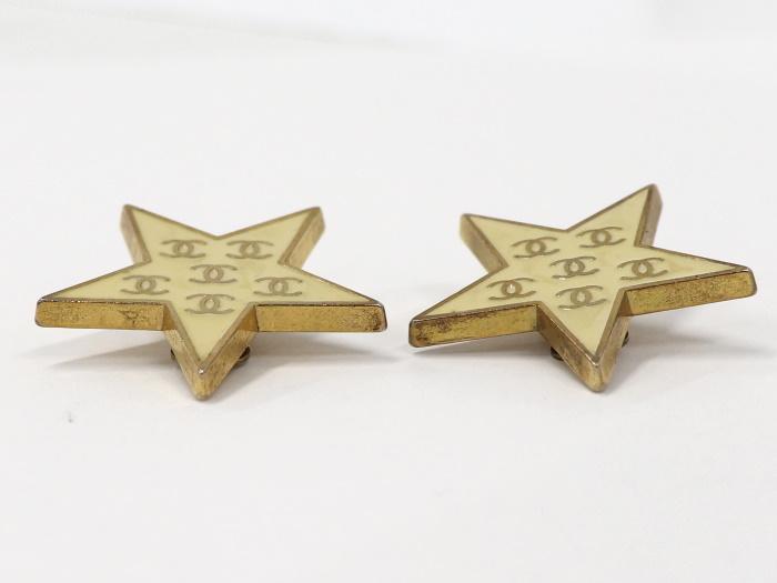【中古】シャネル イヤリング 星型 スター メッキ ゴールド 01P [990]_画像6