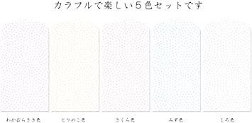 鮫小紋 【Amazon.co.jp 限定】和紙かわ澄 きら染め和紙 ミニぽち袋 豆サイズ4×5cm 5色25枚入 鮫_画像2
