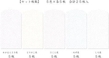 鮫小紋 【Amazon.co.jp 限定】和紙かわ澄 きら染め和紙 ミニぽち袋 豆サイズ4×5cm 5色25枚入 鮫_画像3