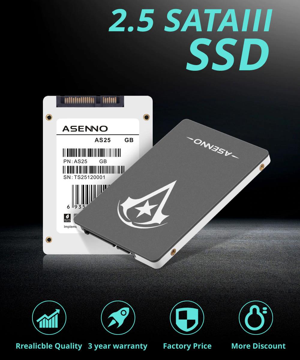 【最安値!】SSD ASENNO 240GB SATA3 / 6.0Gbps 新品 高速 3D NAND TLC 2.5インチ PC_画像2