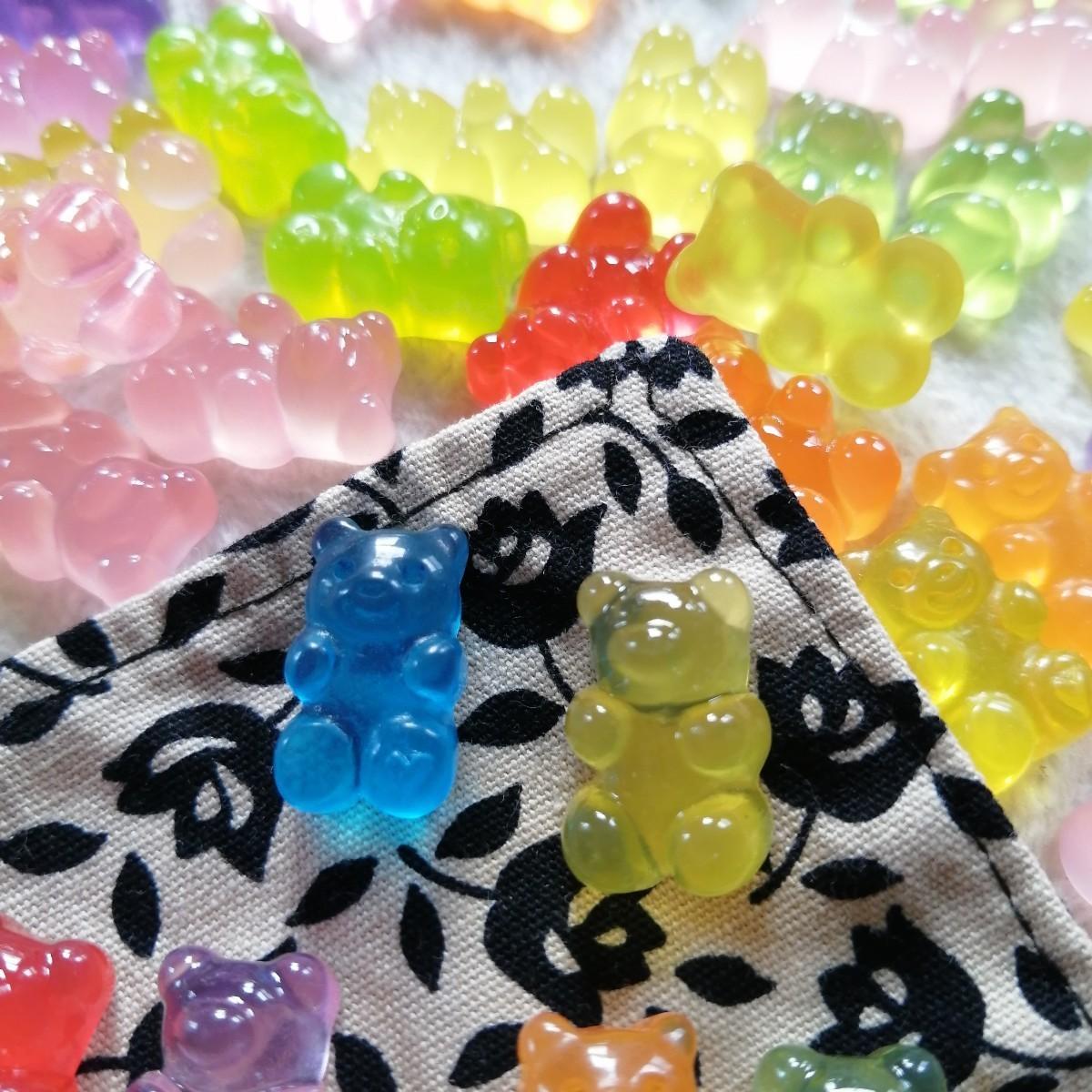 デコパーツ プラパーツ ハンドメイド 手作り 花台 材料 大量 パーツ 熊FB1