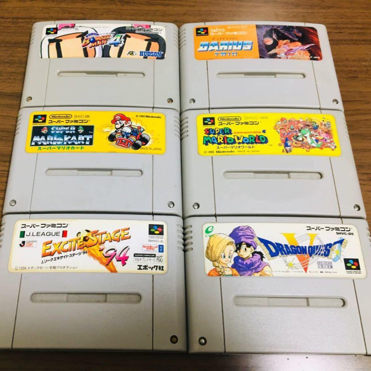 SFC スーパーファミコンソフト まとめ売り6本 任天堂