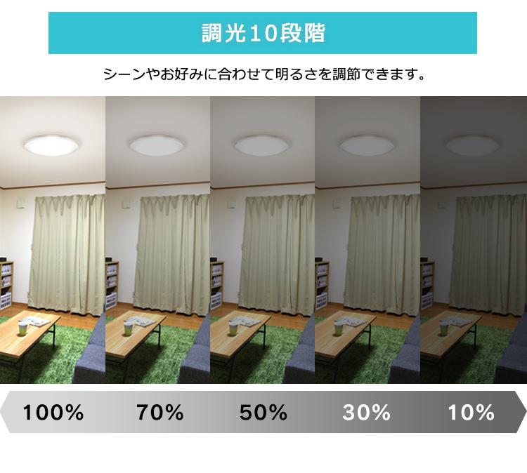 アイリスオーヤマ シーリングライト LED 照明 12畳 音声操作 CL12DL-5.11CFV 調光 調色 メタルサーキット _画像4