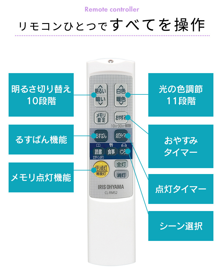 アイリスオーヤマ シーリングライト LED 照明 12畳 音声操作 CL12DL-5.11CFV 調光 調色 メタルサーキット _画像9