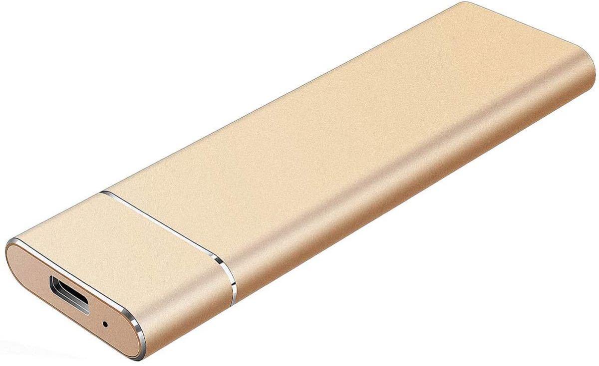 金 ハードディスク 1TB HDD外付け ポータブルハードディスク USB3.1