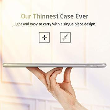 グレー ESR iPad Mini 5 2019 ケース 軽量 薄型 PU レザー スマート カバー 耐衝撃 傷防止 クリア ハ_画像4