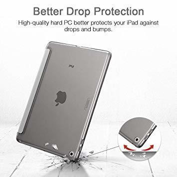 グレー ESR iPad Mini 5 2019 ケース 軽量 薄型 PU レザー スマート カバー 耐衝撃 傷防止 クリア ハ_画像5