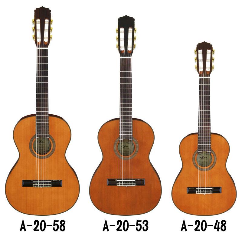 ARIA アリア ミニクラシックギター A-20-53 セダー単板TOP 530 mmスケール 送料無料 新品_画像2