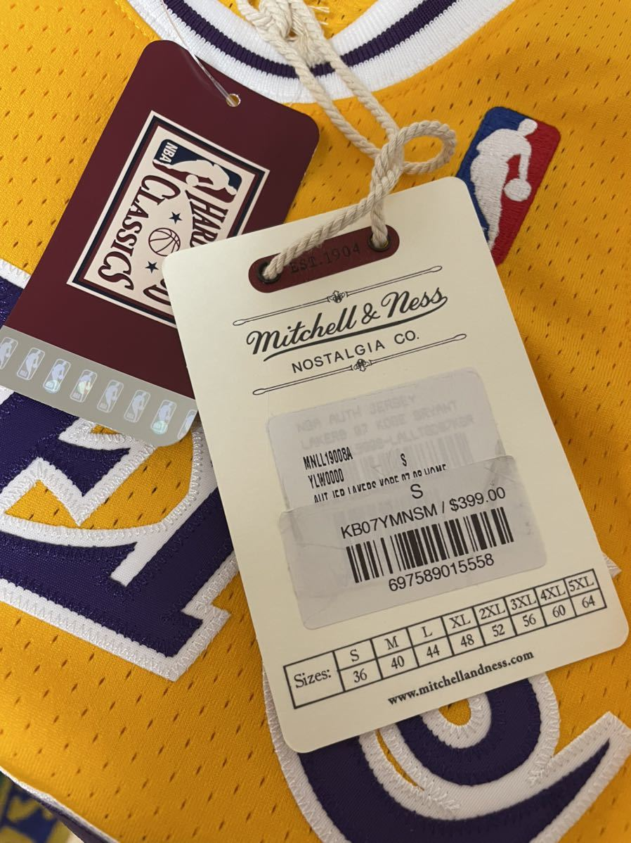 Mitchell & Ness Authentic Kobe Bryant Jersey #24 size 36 Small 正規購入 新品未使用 オーセンティック レイカーズ NBA _画像4