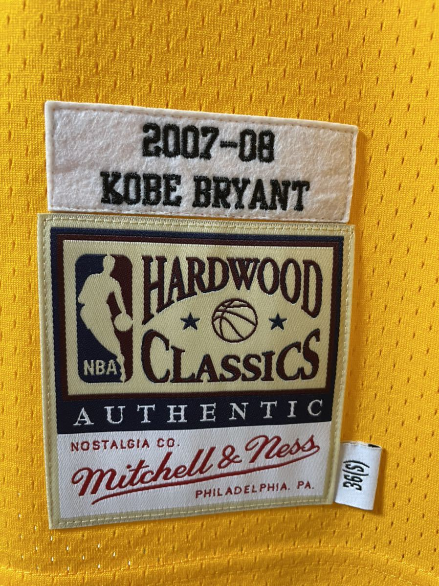 Mitchell & Ness Authentic Kobe Bryant Jersey #24 size 36 Small 正規購入 新品未使用 オーセンティック レイカーズ NBA _画像3