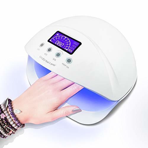 LED ネイルドライヤー UVネイルライト 50W ハイパワー ジェルネイルライト 肌をケア センサータイマー付き UVライト _画像1