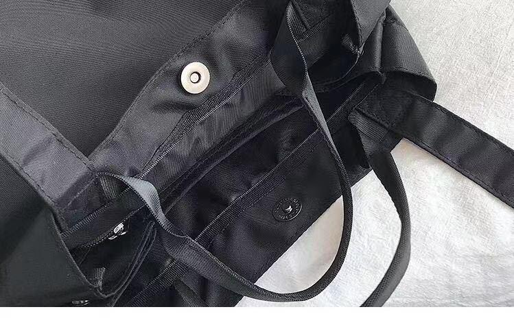 トートバッグ レディース メンズハンドバッグ肩掛け大容量2way通勤通学 黒