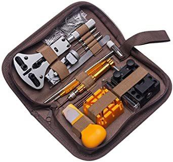 sibling 時計 工具 腕時計修理工具セット 電池&ベルト交換 バンド調整 時計修理工具 バネ外し 裏蓋開け 裏蓋オ_画像7