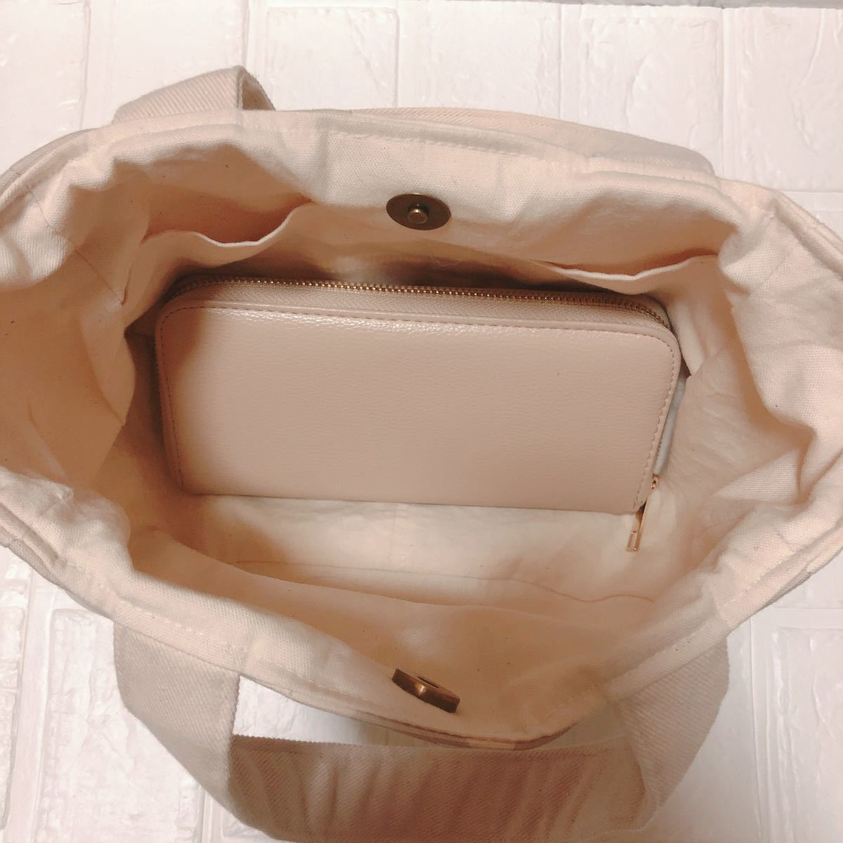 ハンドメイド 丸底トートバッグ フラワー
