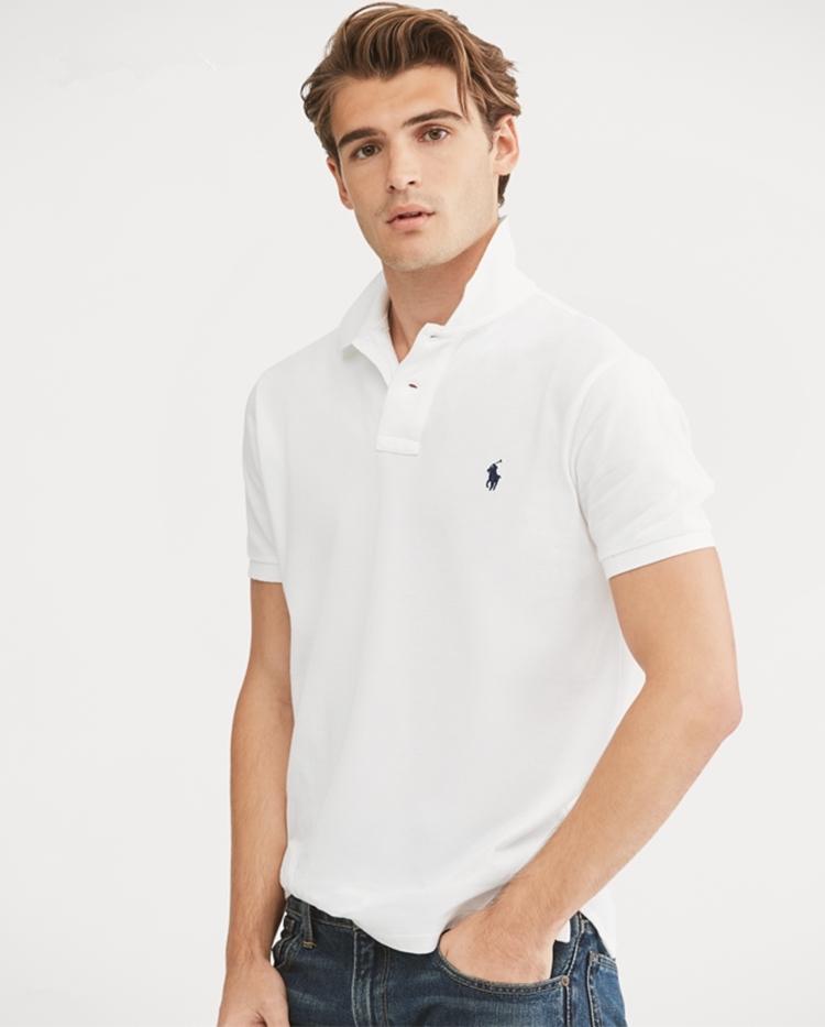 在庫処分!メンズポロシャツ POLO RALPH LAUREN ポロ ラルフローレン 定番 ワンポイント ポニー刺繍 トップス 半袖 綿 tシャツ ホワイト S_画像3