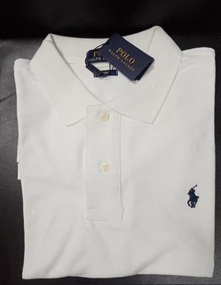 在庫処分!メンズポロシャツ POLO RALPH LAUREN ポロ ラルフローレン 定番 ワンポイント ポニー刺繍 トップス 半袖 綿 tシャツ ホワイト S_画像5