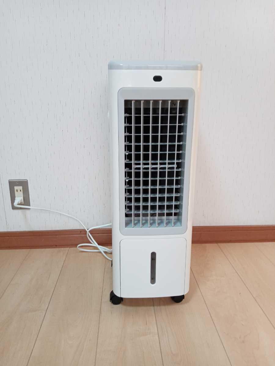冷風扇 冷風機 涼しい 丸隆 KM-004 美品 リモコン付 2019年製 動作確認済み 取扱説明書あり   _正面からの撮影です。