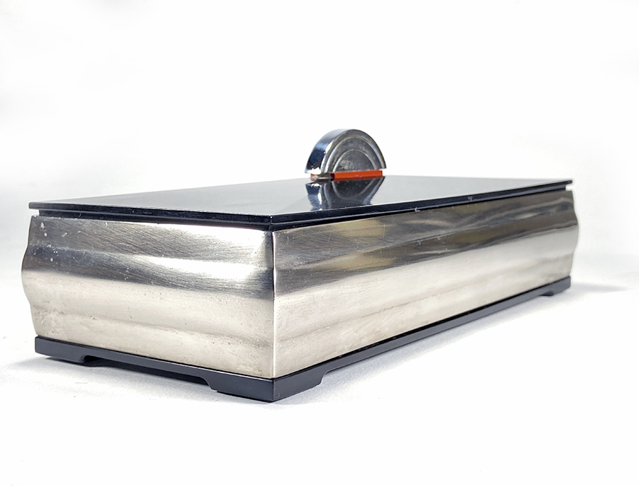 1930's アール・デコ シガレット ボックス/デスク/収納/テーブル/照明/店舗什器/アンティーク/ビンテージ/ミッドセンチュリー/モダン/gras_画像2