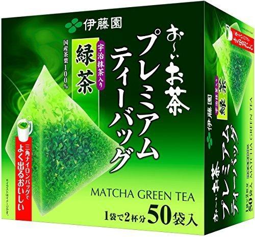 新品宇治抹茶入り緑茶 50袋 伊藤園 おーいお茶 プレミアムティーバッグ 宇治抹茶入り緑茶 1.8g ×TT2Q_画像1