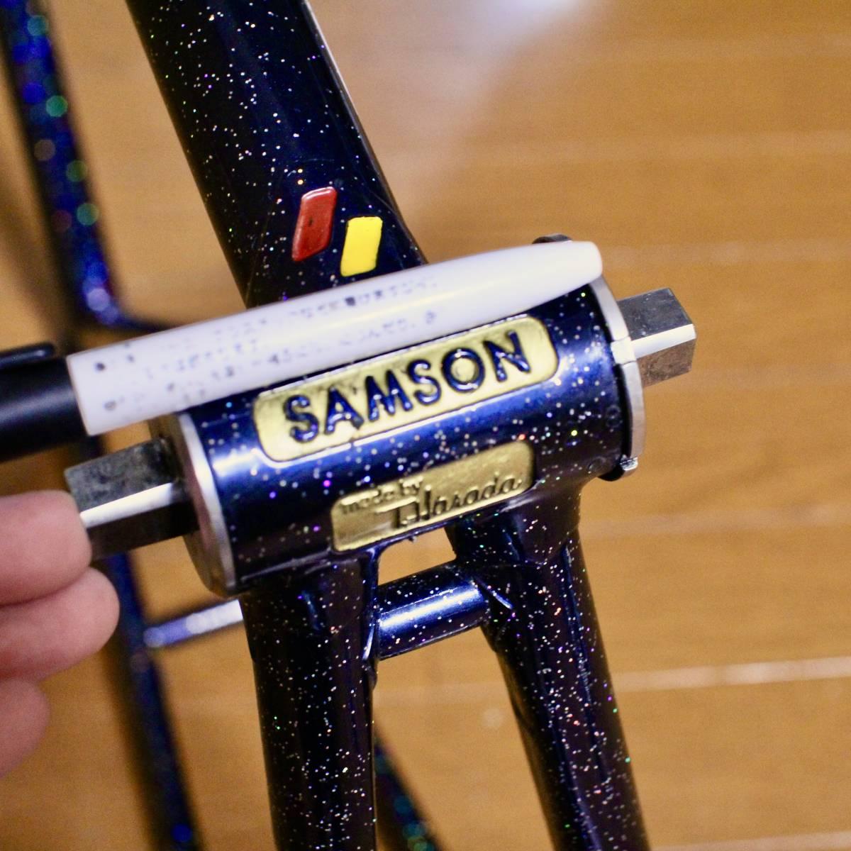 COLUMBUS コロンバス SAMSON サムソン 金縁ロゴ レインボーラメフレーク 競輪フレーム 525mm レイノルズ ピスト NJS 下地メッキ_画像10