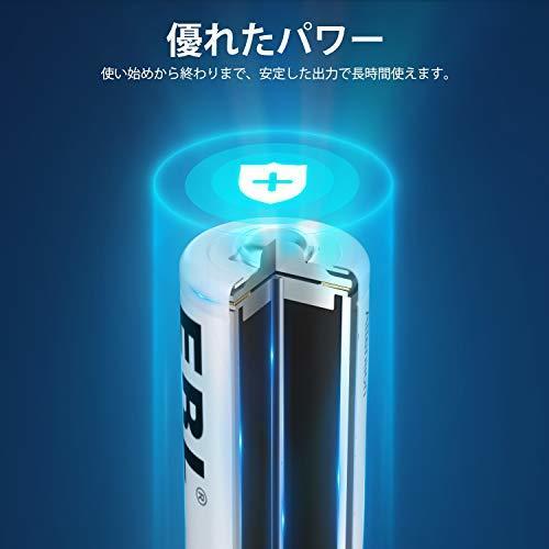 EBL 単4電池 4本パック EBL 単4形充電池 充電式ニッケル水素電池 高容量1100mAh 4本入り 約1200回使用可能_画像3