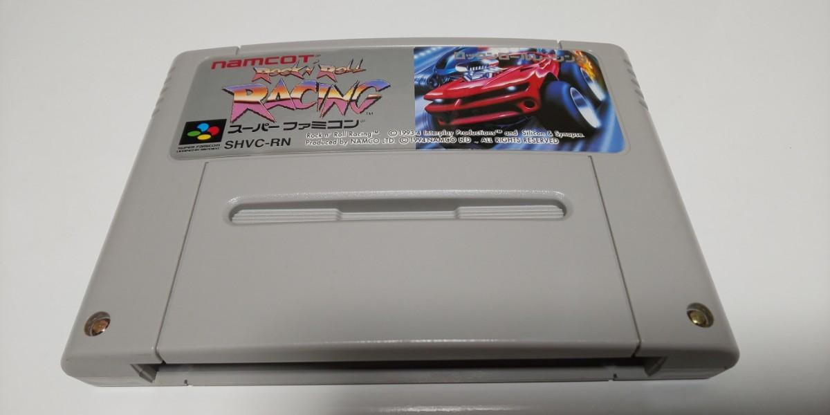 スーパーファミコンソフト☆ロックンロールレーシング 初期動作確認済 まとめ買い値引き可 SFC ナムコ