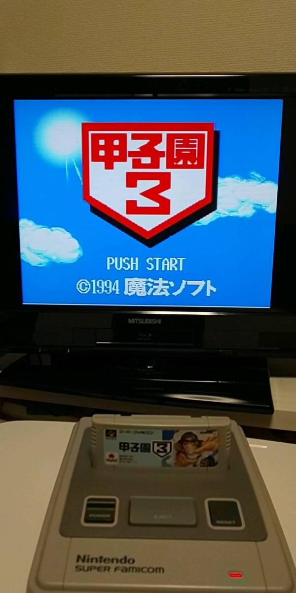 スーパーファミコンソフト 甲子園3☆初期動作確認済☆まとめ買い値引き可 SFC