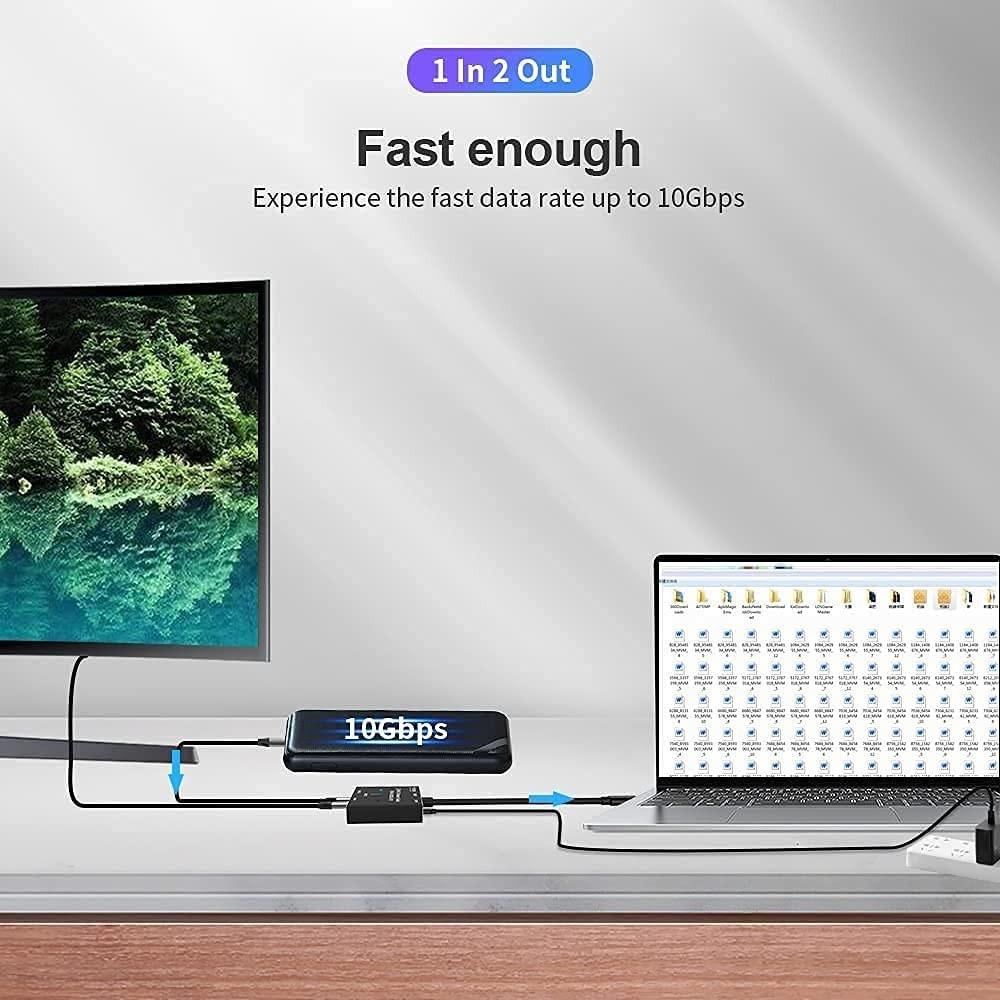 USB Type c アダプター USB 3.1高速ポート 変換アダプタ 8K高解像度 最大出力100W充電対応