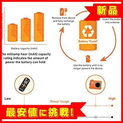 【赤字処分!残1】高容量充電式ニッケル水素電池単4形8個セット 充電池 F306 (充電済み、最小容量 800mAh、約500回使用可能)_画像5