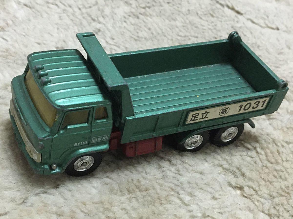 トミカ ダンディ DANDY 日本製 No.28 日野 ダンプトラック 1975年頃 緑色 1/70スケール