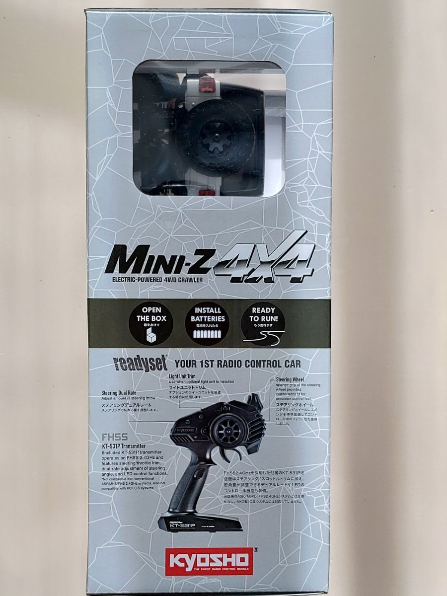 未開封京商 ミニッツ 4×4 ジープ ラングラー アンリミテッドルビコン ホワイト 4x4 z0D1
