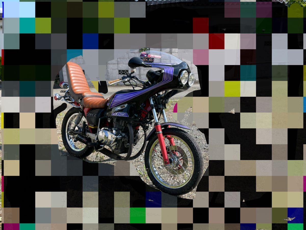 「【希少】cb250t キック付 バブ ホーク」の画像1