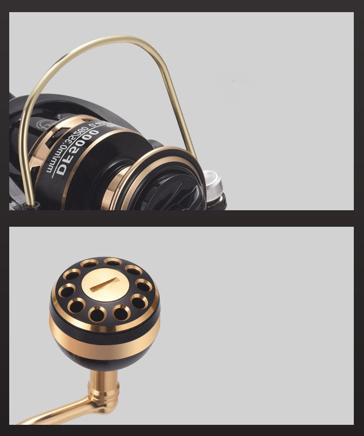 Z362 送料無料 フィッシング リール 遠投 スピニングリール 1000番 釣り 淡水 ギア比:5.2:1 最大ドラグ力6KG 淡水釣り 湖 ハンドル左右交換_画像5