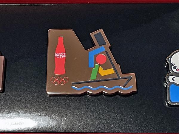 東京オリンピック コカコーラ ピンズ 3種セット 16 アーティスティックスイミング カヌースラローム SPB(競泳) ピンバッジ バッジ バッチ