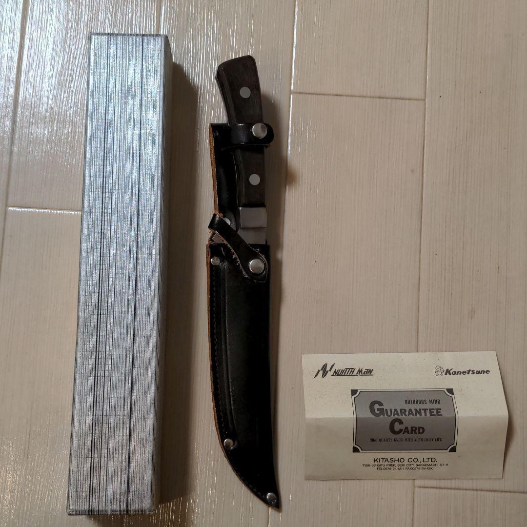 新品!兼常 4mm刃厚 フルタングナイフ 和式KANETSUNEレザーシース付
