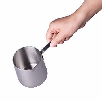 シルバー 370ml IMEEA ミルクパン 片手鍋 18-10ステンレス IH対応ミルクパン ミニミルクパン シルバー_画像2