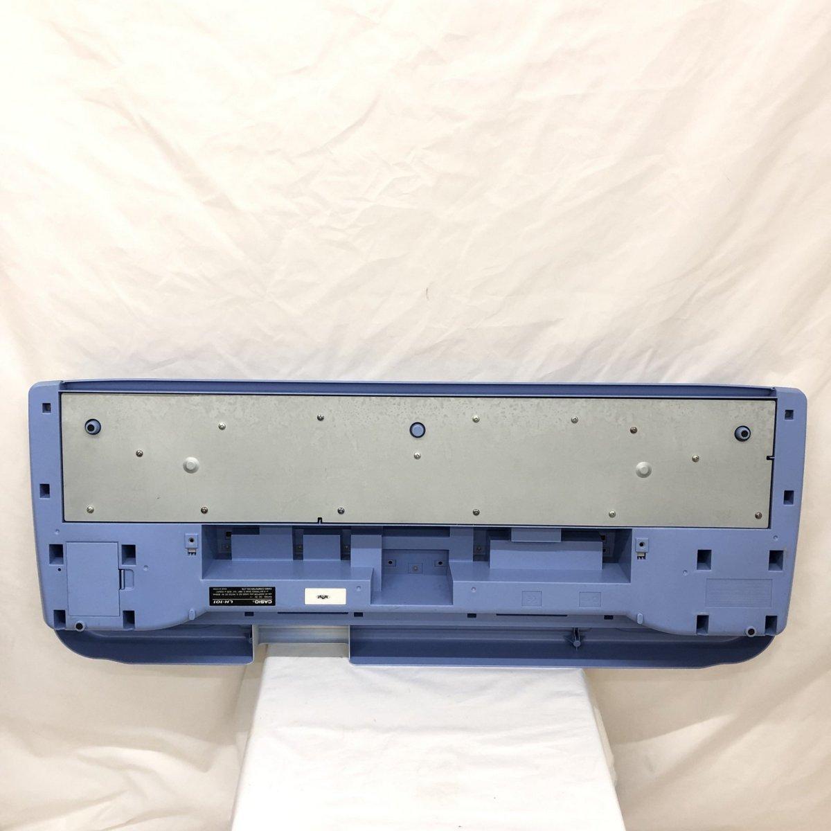 中古 CASIO カシオ 電子キーボード 光ナビゲーション LK-101 61鍵盤 グレー ブルー ポップカラー 電子ピアノ 鍵盤楽器 H15605_画像2