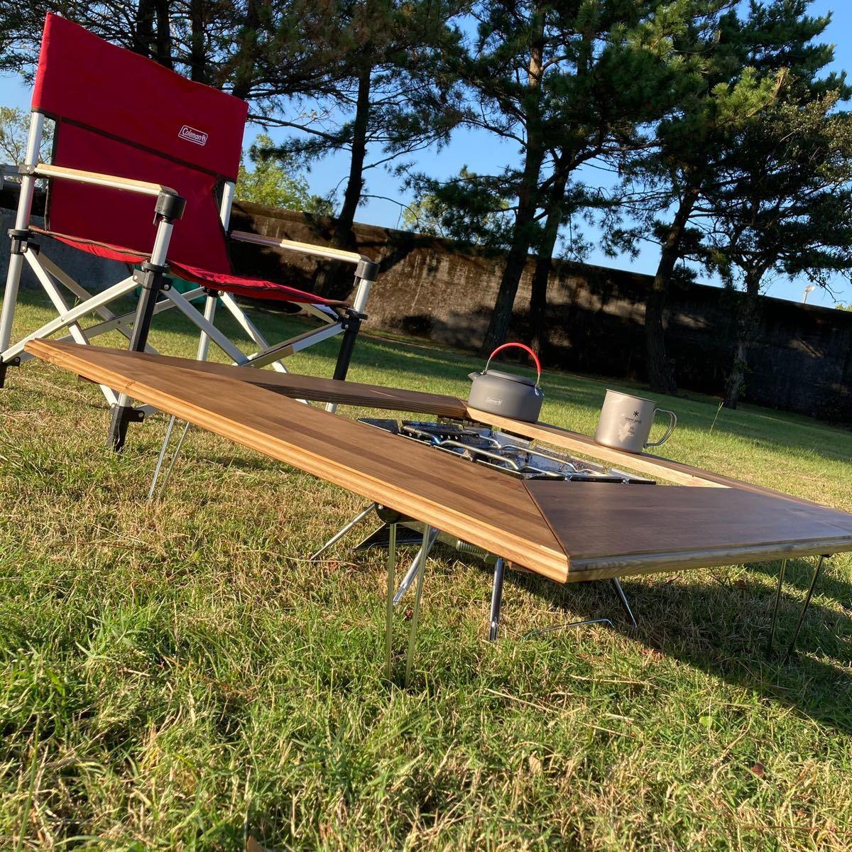 アウトドア用 キャンプテーブル 囲炉裏テーブル 焚き火台テーブル 防炎施工有り