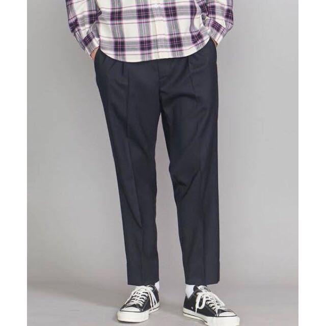 新品未使用 beauty&youth ニドムチノ 1P ワイドテーパード パンツ ビューティーアンドユースユナイテッドアローズ メンズ サイズS