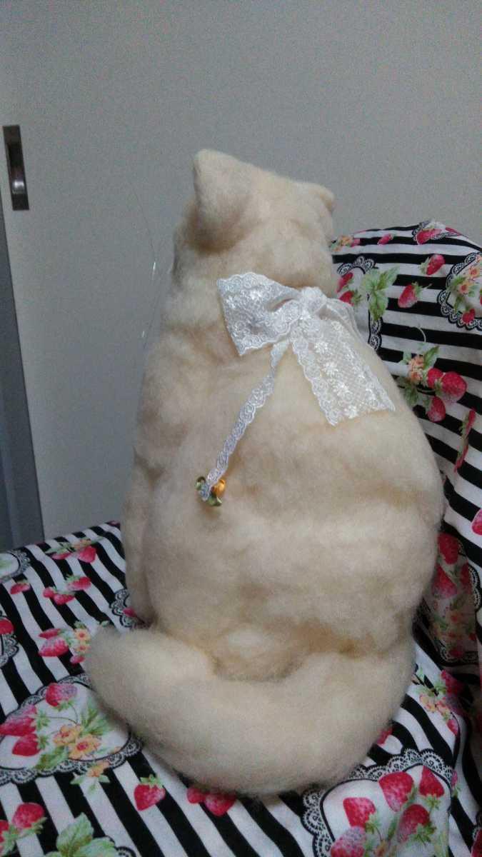 羊毛フェルト猫 ハンドメイド _哀愁漂います