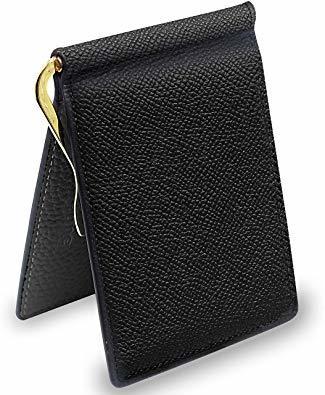 ZPブラック S3R-X9PEYNE マネークリップ 小銭入れ メンズ 財布 - 本革 二つ折り 小銭入れ 本革 薄い財布, J_画像1