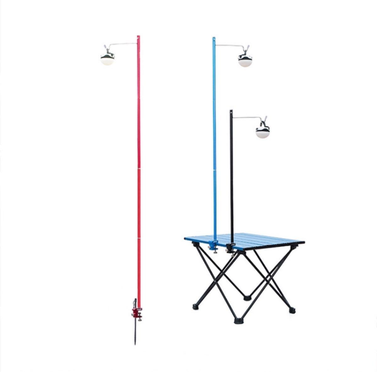 ランタンスタンド  テーブルと地面両用 ランタンハンガー 高強度アルミ ブルー