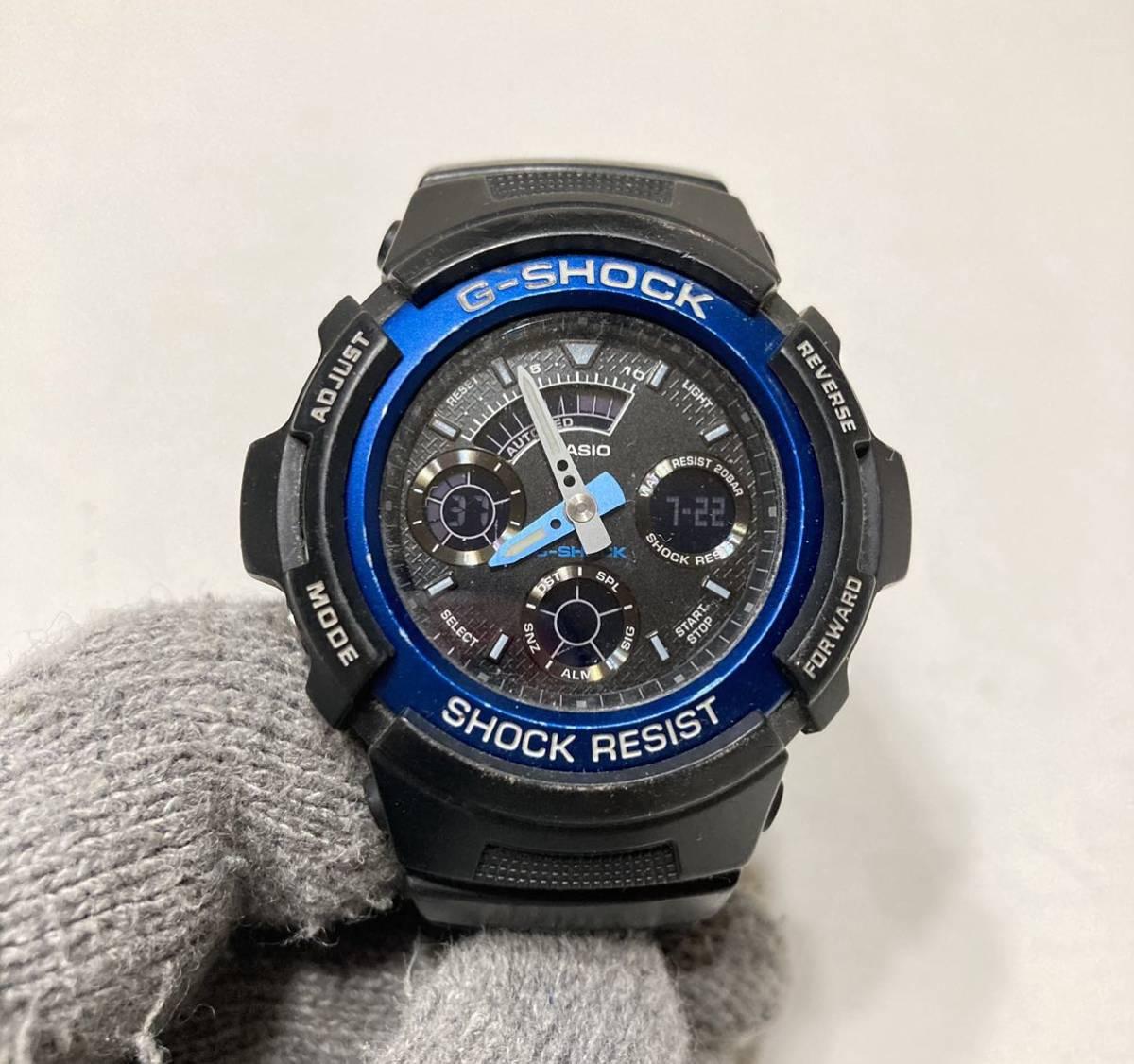 G34 CASIO G-SHOCK Gショック AW-591 ブラック ブルー 黒
