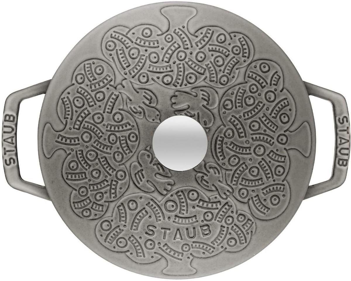 鍋丸灰色20cmミナボルホーニ両手鋳鉄鍋エナメル鍋 両手鍋
