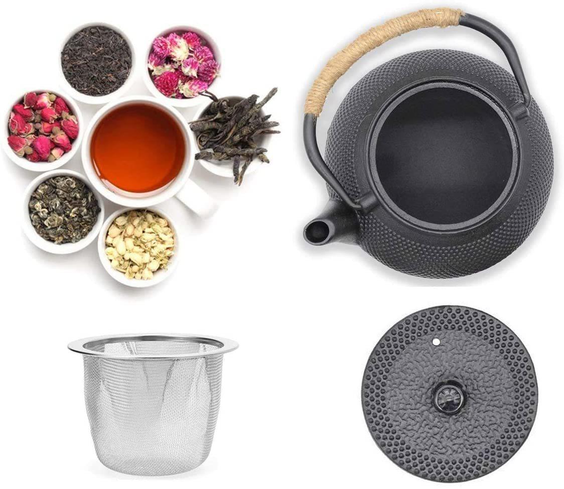 〈IH対応〉鉄瓶 600ml やかん 急須 窯焼き 茶こし 付き 鉄分補給 茶道具 お茶 茶漉し コーヒー 紅茶