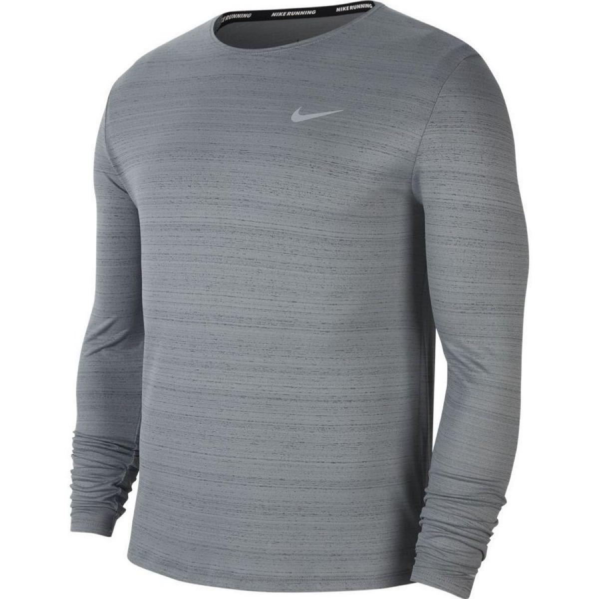 NIKE ナイキ DRI-FIT CU5990-084 ランニング ウェア 長袖Tシャツ メンズ メンズ スモークグレー
